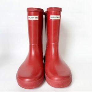 Hunter red kids rain boots sz 11